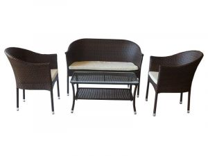 Sofa, two chairs and a table № 030809