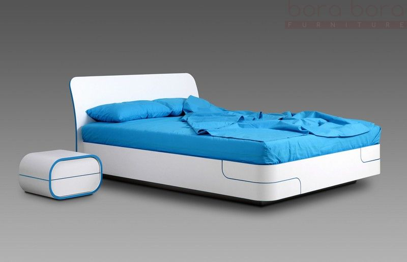 bed with a lifting frame and slats № 0609504